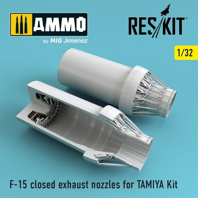 Reskit F-15 closed exhaust nozzles for TAMIYA Kit - Scale 1/32 - Reskit - RSU32-0030