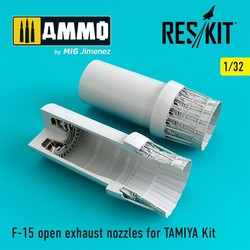 F-15 open exhaust nozzles for TAMIYA Kit - Scale 1/32 - Reskit - RSU32-0029