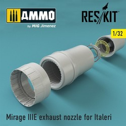 Mirage IIIE exhaust nozzle for Italeri - Scale 1/32 - Reskit - RSU32-0004