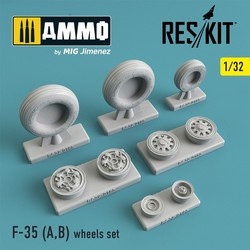 F-35 (A,B) wheels set - Scale 1/32 - Reskit - RS32-0185