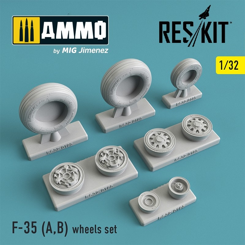 Reskit F-35 (A,B) wheels set - Scale 1/32 - Reskit - RS32-0185