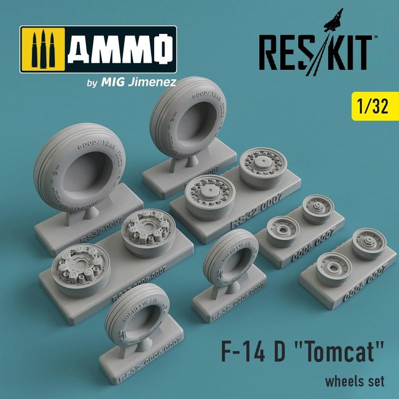 "Reskit Grumman F-14 D ""Tomcat"" wheels set - Scale 1/32 - Reskit - RS32-0007"
