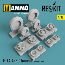 """Grumman F-14 A/B """"Tomcat"""" wheels set - Scale 1/32 - Reskit - RS32-0006"""