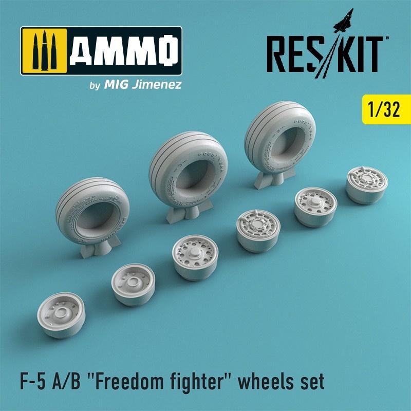 "Reskit F-5 A/B ""Freedom fighter"" wheels set - Scale 1/32 - Reskit - RS32-0004"