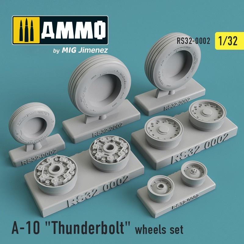 "Reskit Fairchild Republic A-10 ""Thunderbolt"" wheels set - Scale 1/32 - Reskit - RS32-0002"