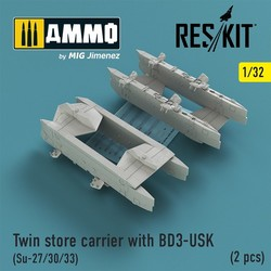 Twin store carrier with BD3-USK (Su-27/30/33) (2 pcs) - Scale 1/32 - Reskit - RS32-0159