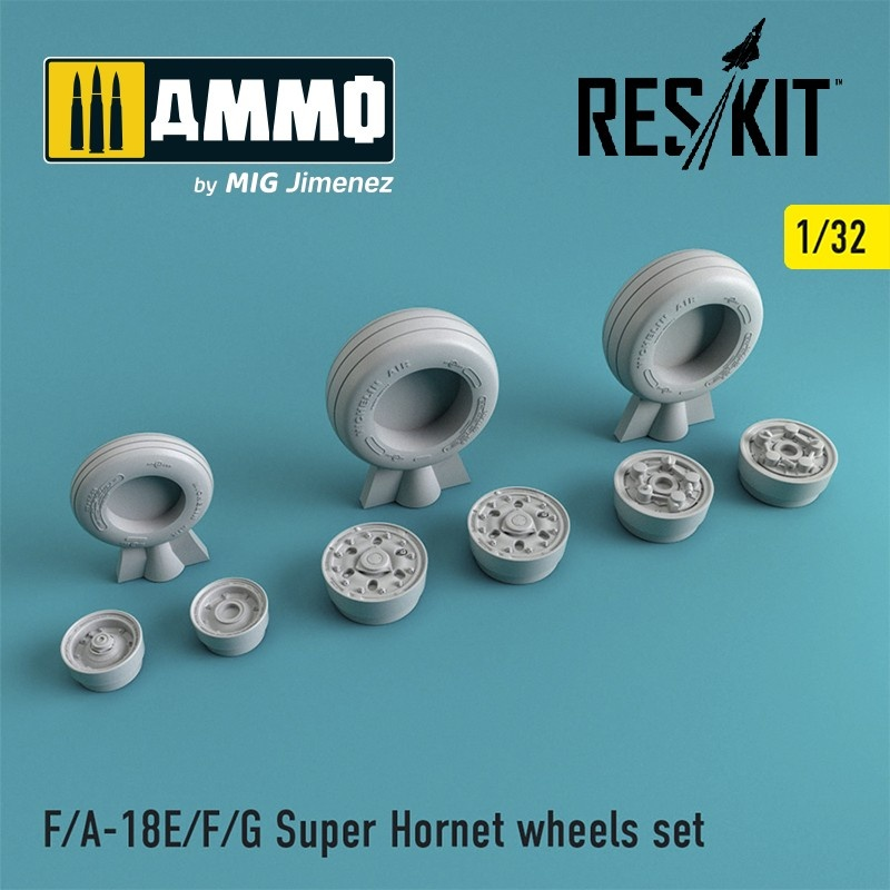 Reskit F-18 Super Hornet wheels set - Scale 1/32 - Reskit - RS32-0126