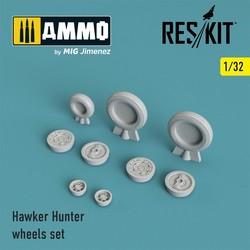 Hawker Hunter wheels set - Scale 1/32 - Reskit - RS32-0115