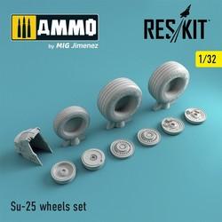 Su-25 wheels set - Scale 1/32 - Reskit - RS32-0037
