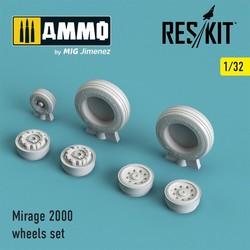 Mirage 2000 wheels set - Scale 1/32 - Reskit - RS32-0034