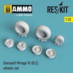 Mirage III (B,C) wheels set - Scale 1/32 - Reskit - RS32-0028