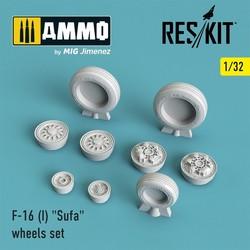 "F-16 (I) ""Sufa"" wheels set - Scale 1/32 - Reskit - RS32-0026"