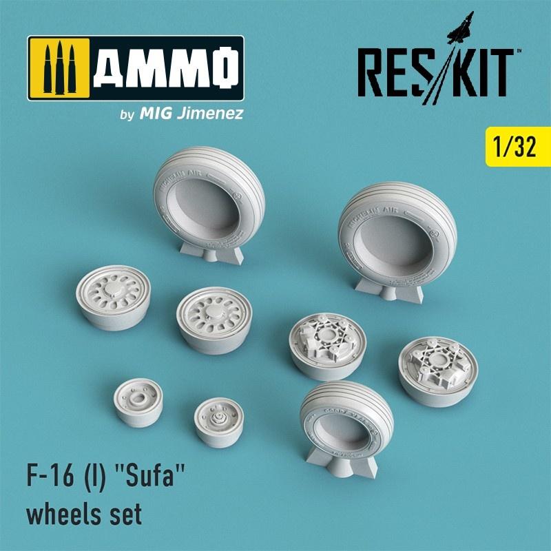 "Reskit F-16 (I) ""Sufa"" wheels set - Scale 1/32 - Reskit - RS32-0026"