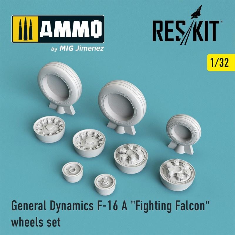 "Reskit F-16 (A) ""Fighting Falcon"" wheels set - Scale 1/32 - Reskit - RS32-0023"