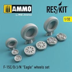 "F-15 (C/D/J/N) ""Eagle"" wheels set - Scale 1/32 - Reskit - RS32-0022"