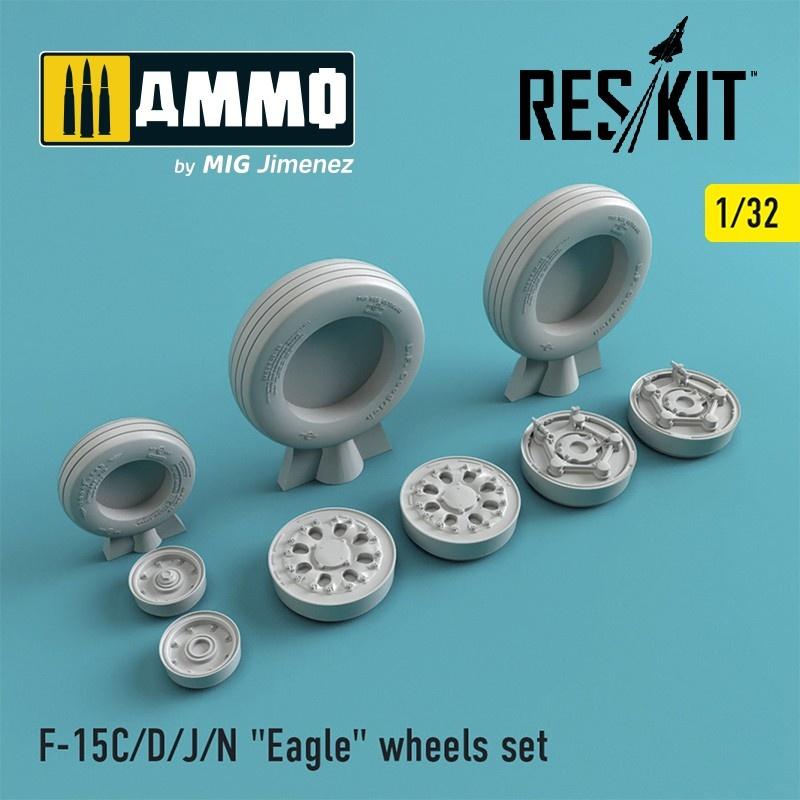 "Reskit F-15 (C/D/J/N) ""Eagle"" wheels set - Scale 1/32 - Reskit - RS32-0022"