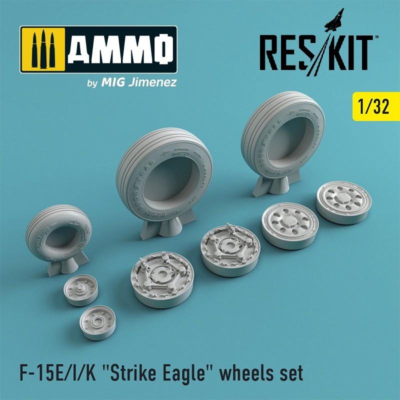 "Reskit F-15 (E/I/K) ""Strike Eagle"" wheels set - Scale 1/32 - Reskit - RS32-0021"
