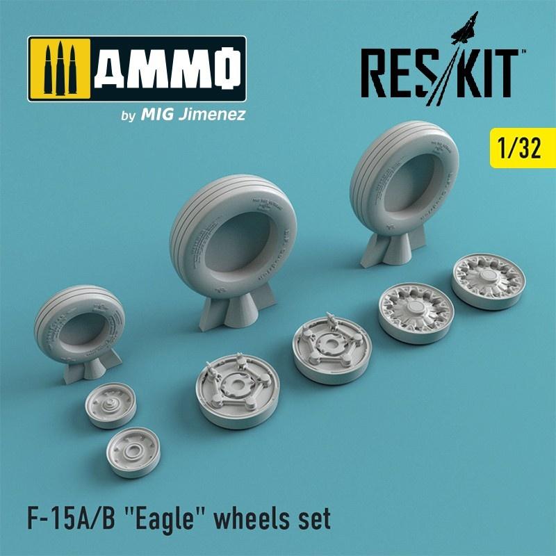 "Reskit F-15 (A/B) ""Eagle"" wheels set - Scale 1/32 - Reskit - RS32-0020"