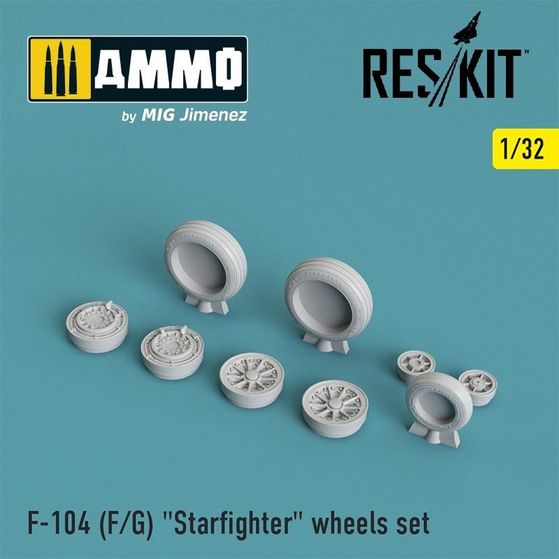 "Reskit F-104 (F/G) ""Starfighter"" wheels set - Scale 1/32 - Reskit - RS32-0010"