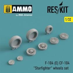 "F-104 (E) CF-104 ""Starfighter"" wheels set - Scale 1/32 - Reskit - RS32-0009"