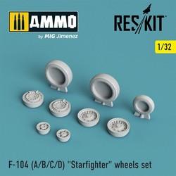 "F-104 (A/B/C/D) ""Starfighter"" wheels set - Scale 1/32 - Reskit - RS32-0008"