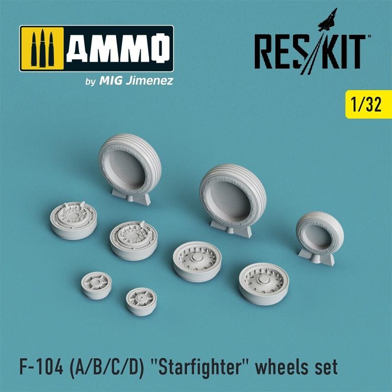 """Reskit F-104 (A/B/C/D) """"Starfighter"""" wheels set - Scale 1/32 - Reskit - RS32-0008"""
