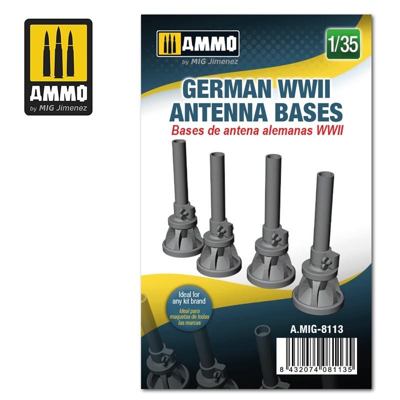 Ammo by Mig Jimenez German WWII Antenna Bases - Scale 1/35 - Ammo by Mig Jimenez - A.MIG-8113