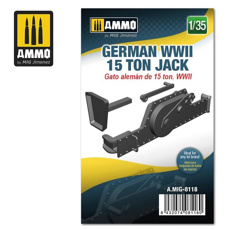 Ammo by Mig Jimenez German WWII 15 ton Jack - Scale 1/35 - Ammo by Mig Jimenez - A.MIG-8118