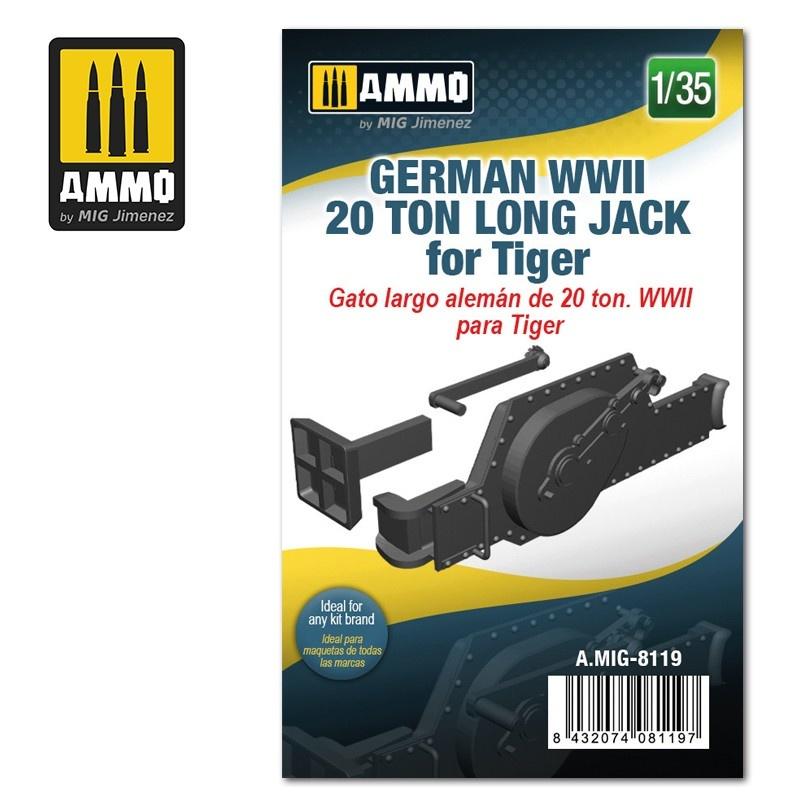 Ammo by Mig Jimenez German WWII 20 ton Long Jack for Tiger - Scale 1/35 - Ammo by Mig Jimenez - A.MIG-8119