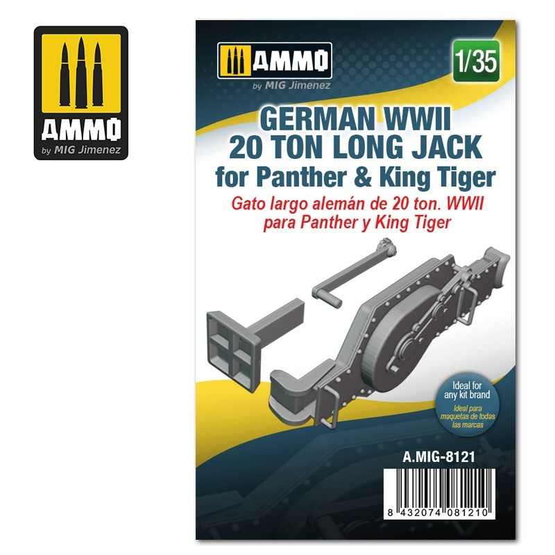 Ammo by Mig Jimenez German WWII 20 ton Long Jack for Panther & King Tiger - Scale 1/35 - Ammo by Mig Jimenez - A.MIG-8121