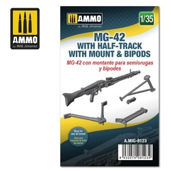 MG-42 with Half-Track Mount and Bipods - Scale 1/35 - Ammo by Mig Jimenez - A.MIG-8123