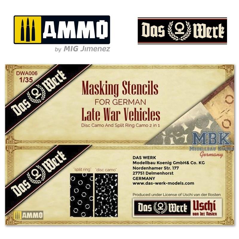 Das Werk German Late War Masking Stencils - Scale 1/35 - Das Werk - DWA006