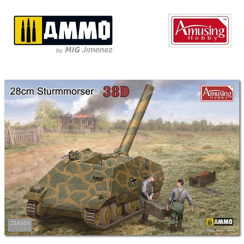 Amusing Hobby 28cm Sturmmörser auf Panzer 38D - Scale 1/35 - Amusing Hobby - AH35A009