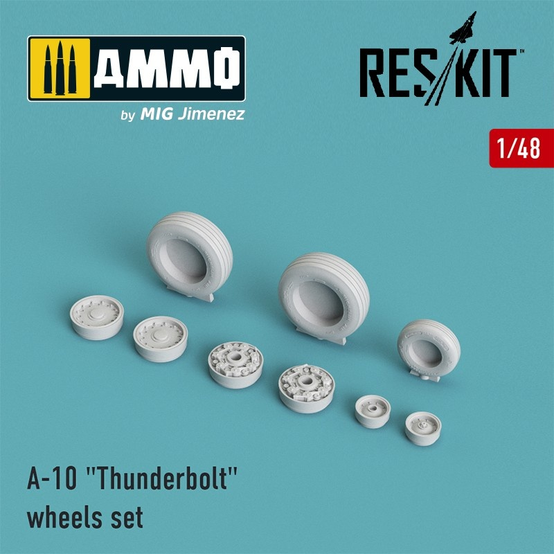 "Reskit A-10 ""Thunderbolt"" wheels set - Scale 1/48 - Reskit - RS48-0002"