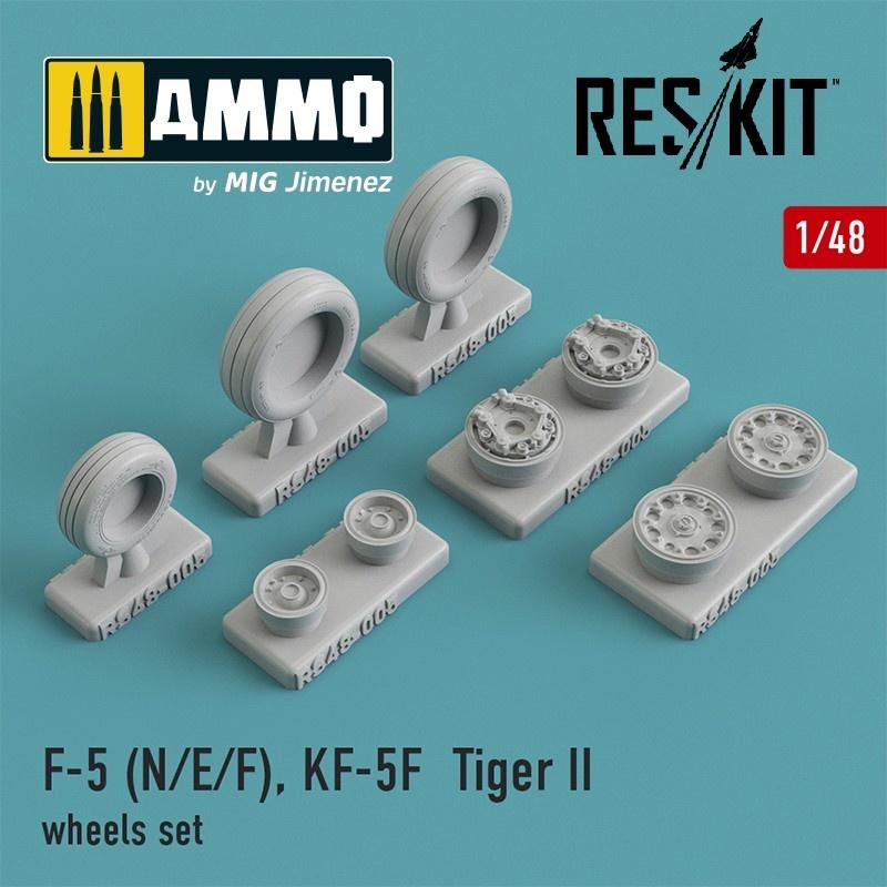 Reskit F-5 (N/E/F), KF-5F Tiger II wheels set - Scale 1/48 - Reskit - RS48-0005