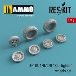 "F-104 A/B/C/D ""Starfighter"" wheels set - Scale 1/48 - Reskit - RS48-0008"