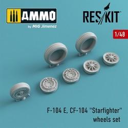 "F-104 E, CF-104 ""Starfighter"" wheels set - Scale 1/48 - Reskit - RS48-0009"