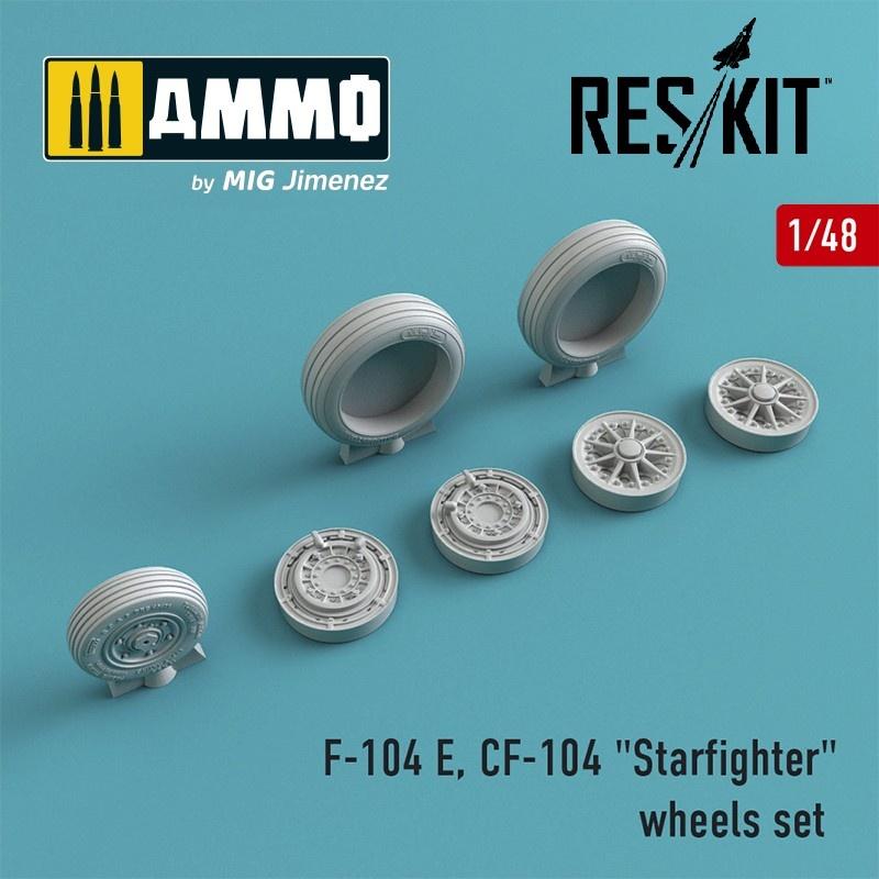 "Reskit F-104 E, CF-104 ""Starfighter"" wheels set - Scale 1/48 - Reskit - RS48-0009"