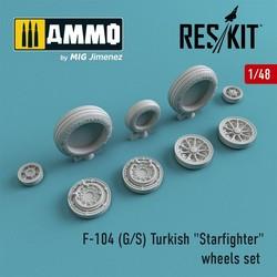 "F-104 (G/S) Turkish ""Starfighter"" wheels set - Scale 1/48 - Reskit - RS48-0011"