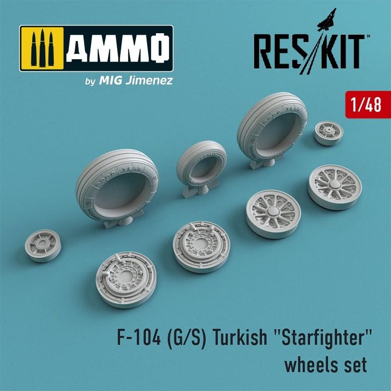 "Reskit F-104 (G/S) Turkish ""Starfighter"" wheels set - Scale 1/48 - Reskit - RS48-0011"