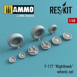 "F-117 ""Nighthawk"" wheels set - Scale 1/48 - Reskit - RS48-0016"
