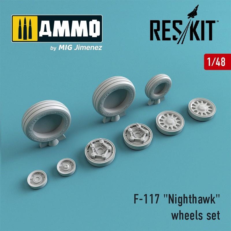 "Reskit F-117 ""Nighthawk"" wheels set - Scale 1/48 - Reskit - RS48-0016"