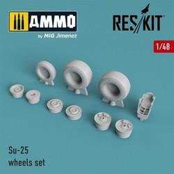 Su-25 wheels set - Scale 1/48 - Reskit - RS48-0037