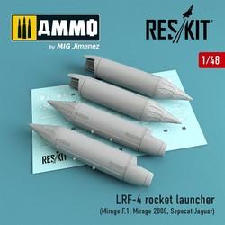 LRF-4 rocket launcher (4 pcs) (Mirage F.1, Mirage 2000, Sepecat Jaguar) - Scale 1/48 - Reskit - RS48-0049