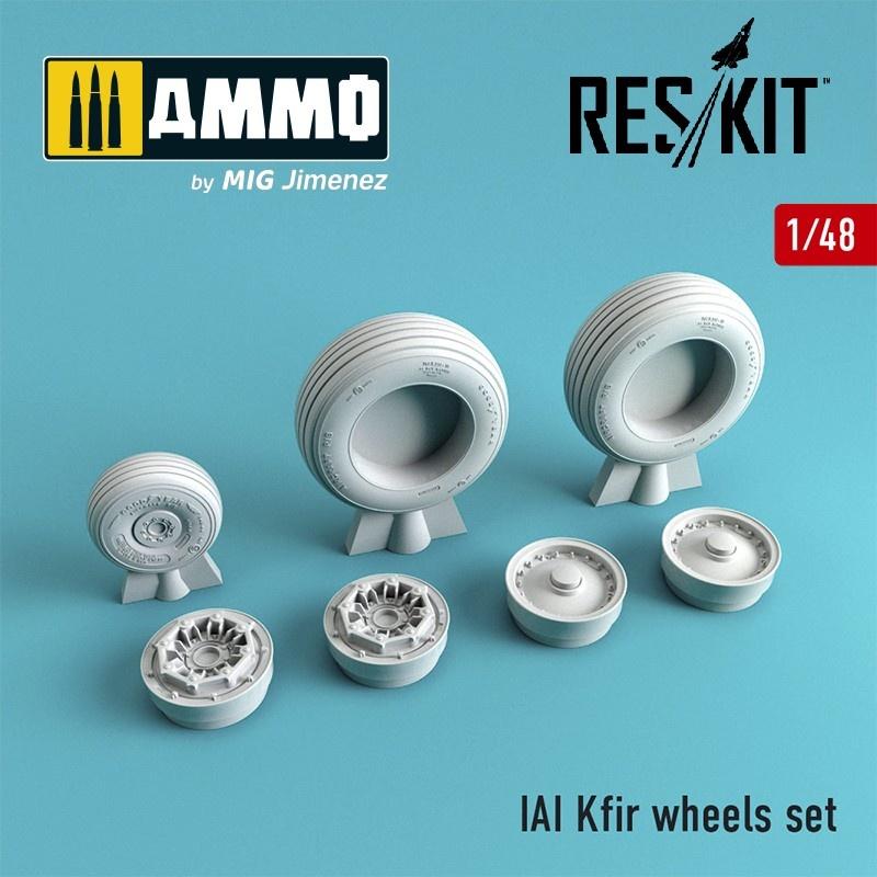 Reskit IAI Kfir wheels set - Scale 1/48 - Reskit - RS48-0051