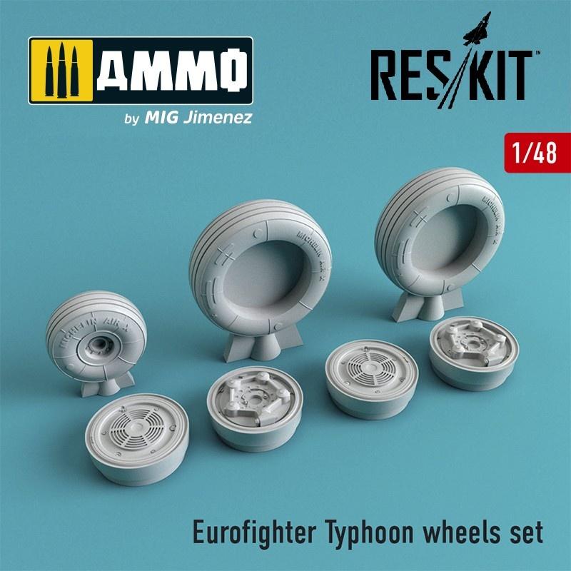 Reskit Eurofighter Typhoon wheels set - Scale 1/48 - Reskit - RS48-0059