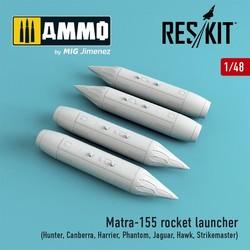 Matra-155 (4 pcs) (Hunter, Canberra, Harrier, Phantom, Jaguar, Hawk, Strikemaster) - Scale 1/48 - Reskit - RS48-0060