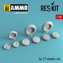 Su-17 wheels set - Scale 1/48 - Reskit - RS48-0061