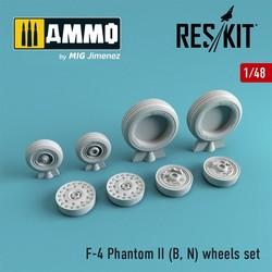 F-4 Phantom II (B, N) wheels set - Scale 1/48 - Reskit - RS48-0064