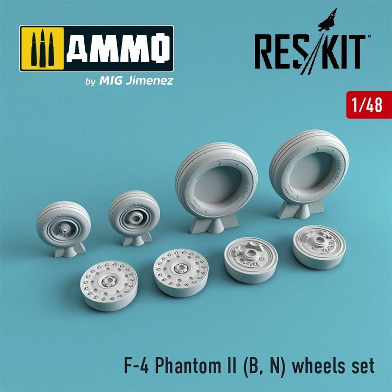 Reskit F-4 Phantom II (B, N) wheels set - Scale 1/48 - Reskit - RS48-0064